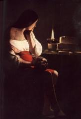 Maddalena penitente- La Tour