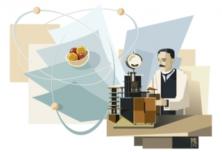 Rutherford nel suo laboratorio