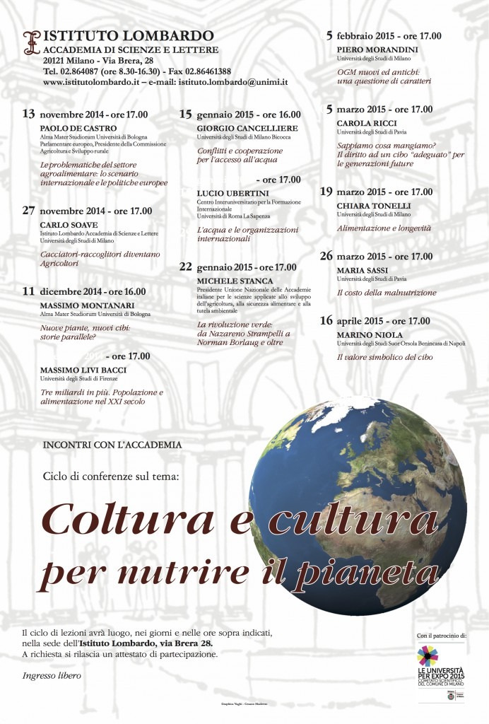 Coltura e cultura - locandina